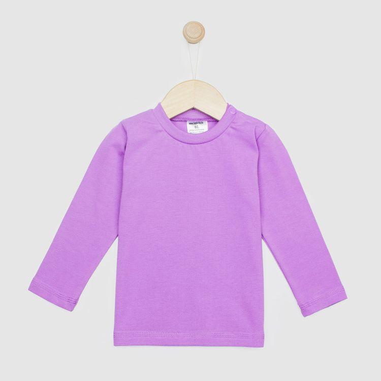 Uni-Langarmshirt Lavendel