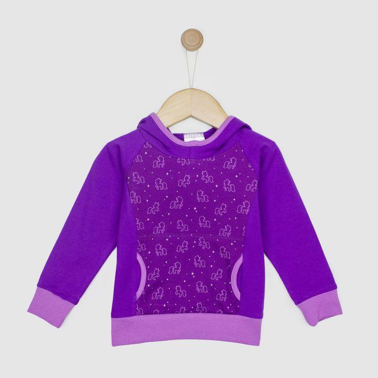 Hoodie-Shirt PurpleUnicorn 128