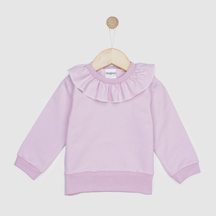 Uni-Sweater mit Volantkragen Antikrosa