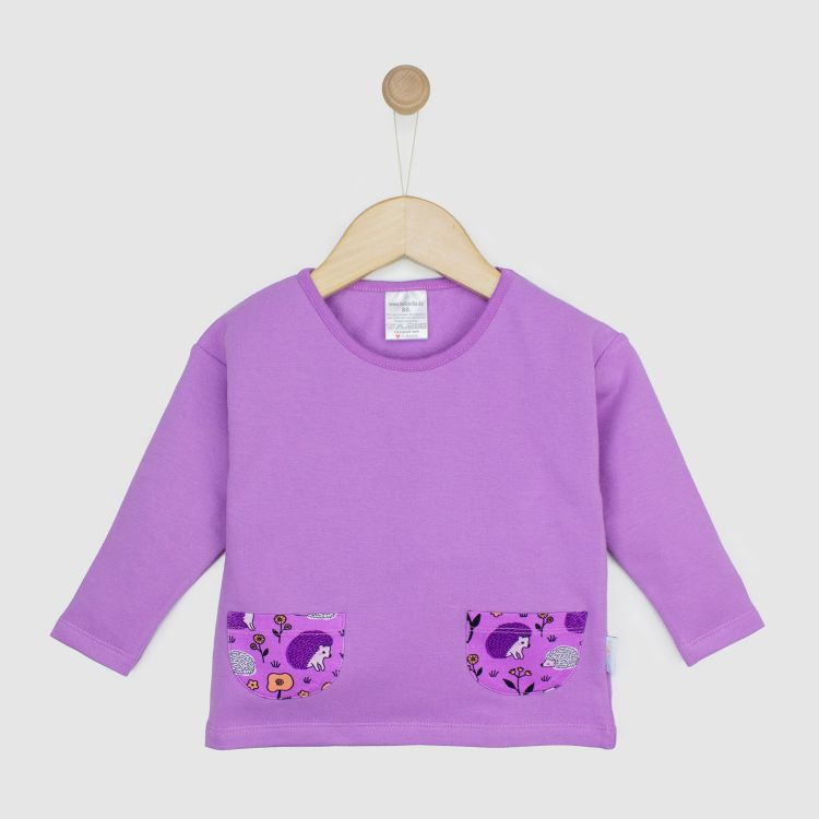 Baby-PocketSweater - SweetHedgehogs-Purple