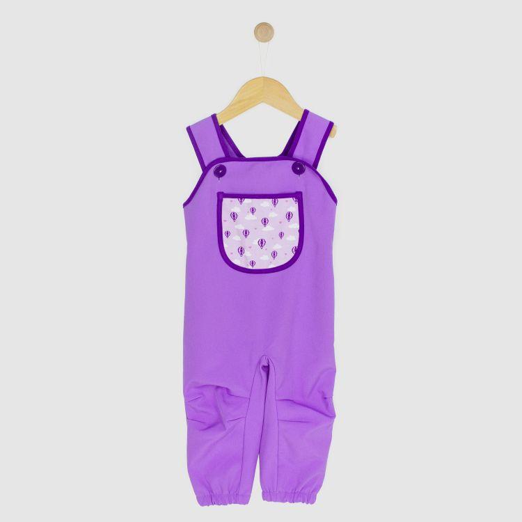Baby-Softshell-Latzhose - LovelyBalloons-Lavendel