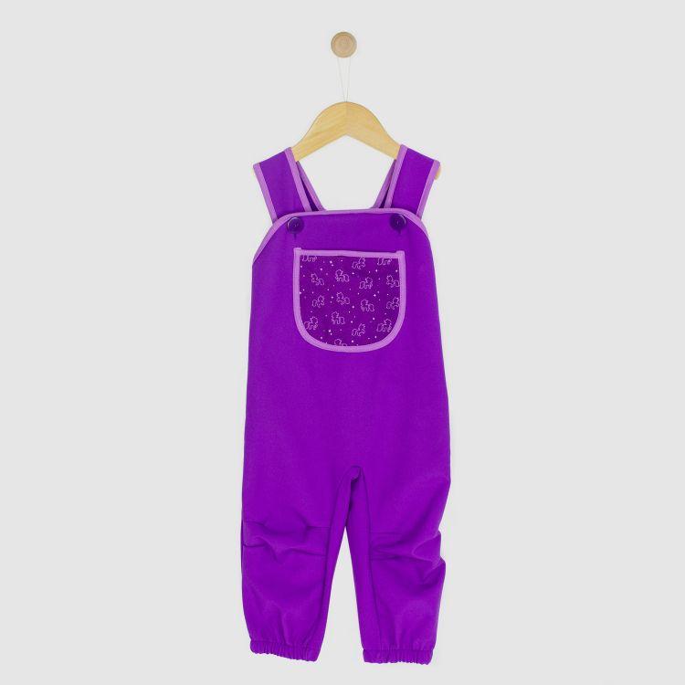 Baby-Softshell-Latzhose - PurpleUnicorn