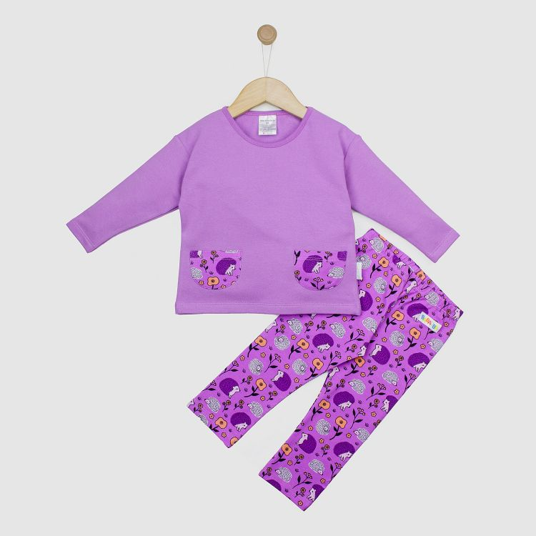 Pocketsweater-Set SweetHedgehogs-Purple 80