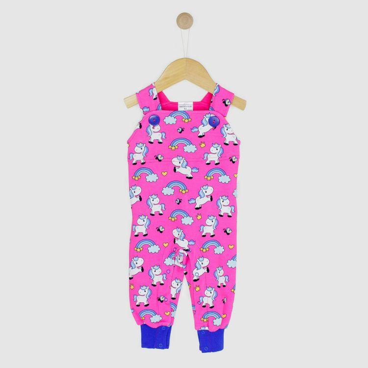 Baby-Latzhose - ChubbyUnicorns-Pink