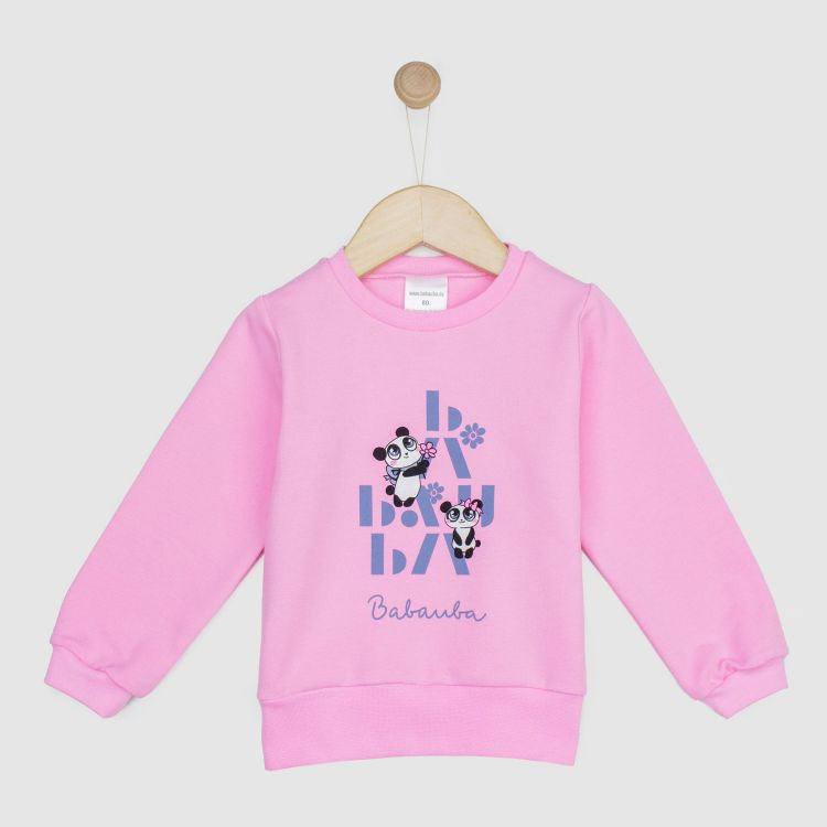 Kids-Sweater - GirlyPanda-Grey