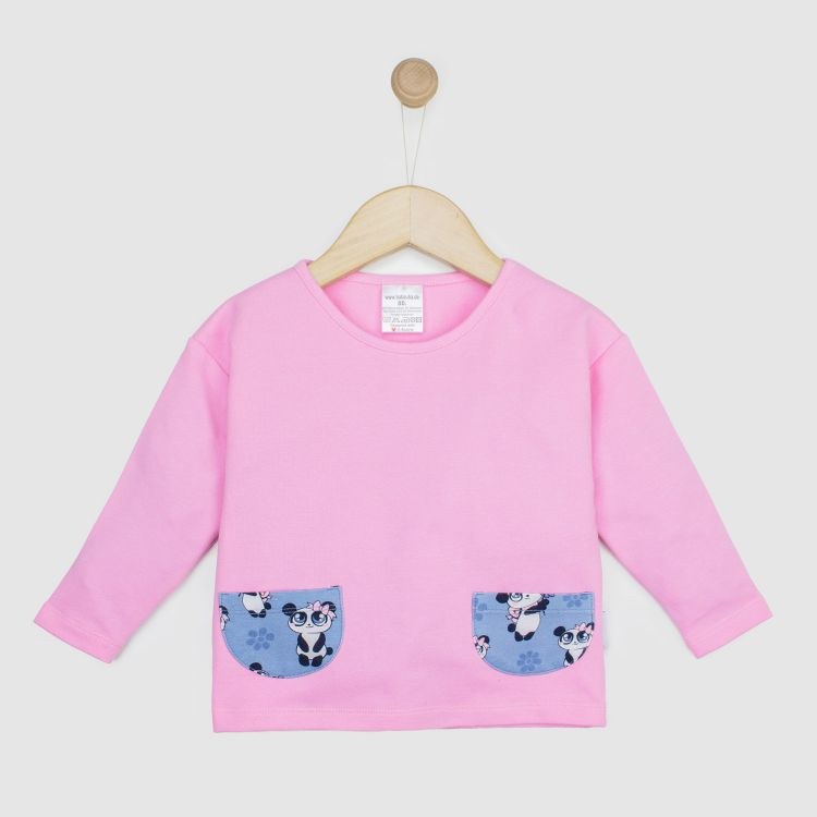 Kids-PocketSweater - GirlyPanda-Grey