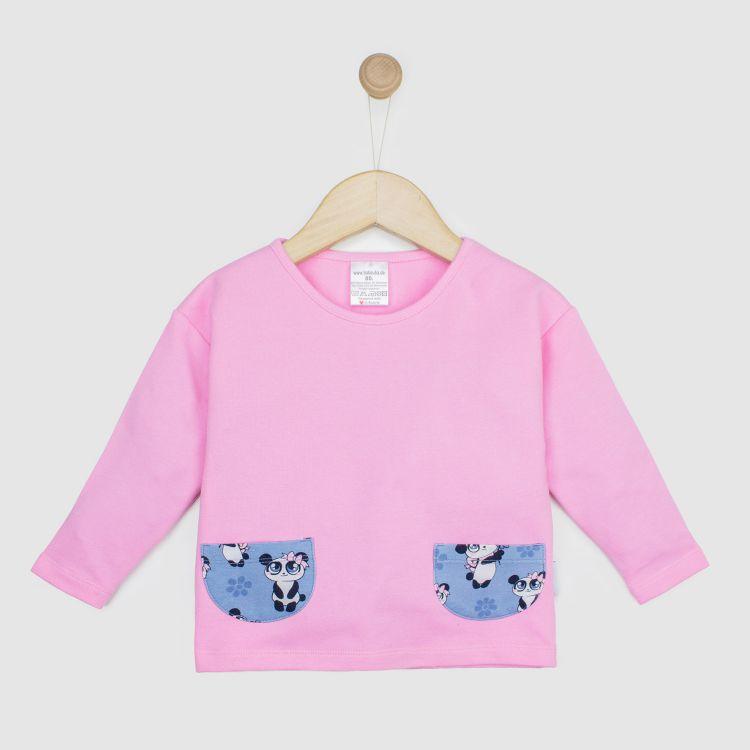 Baby-PocketSweater - GirlyPanda-Grey