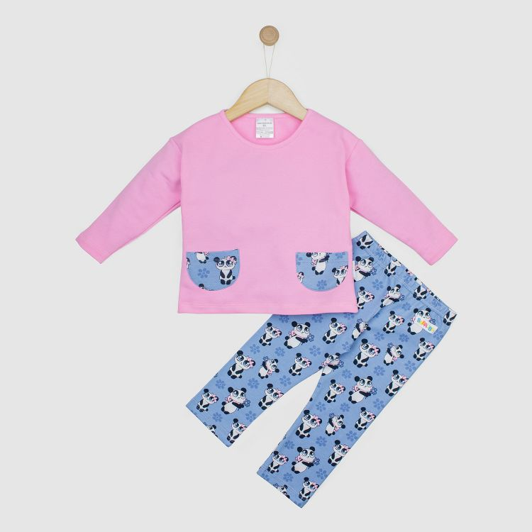 Kids-PocketSweater-Set - GirlyPanda-Grey