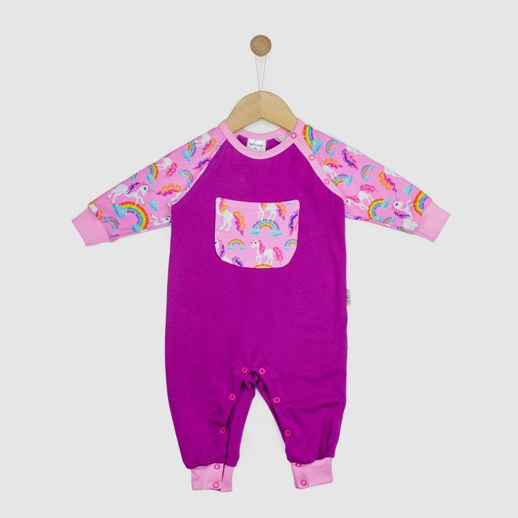Baby-Raglan-Strampler - SparklingUnicorns
