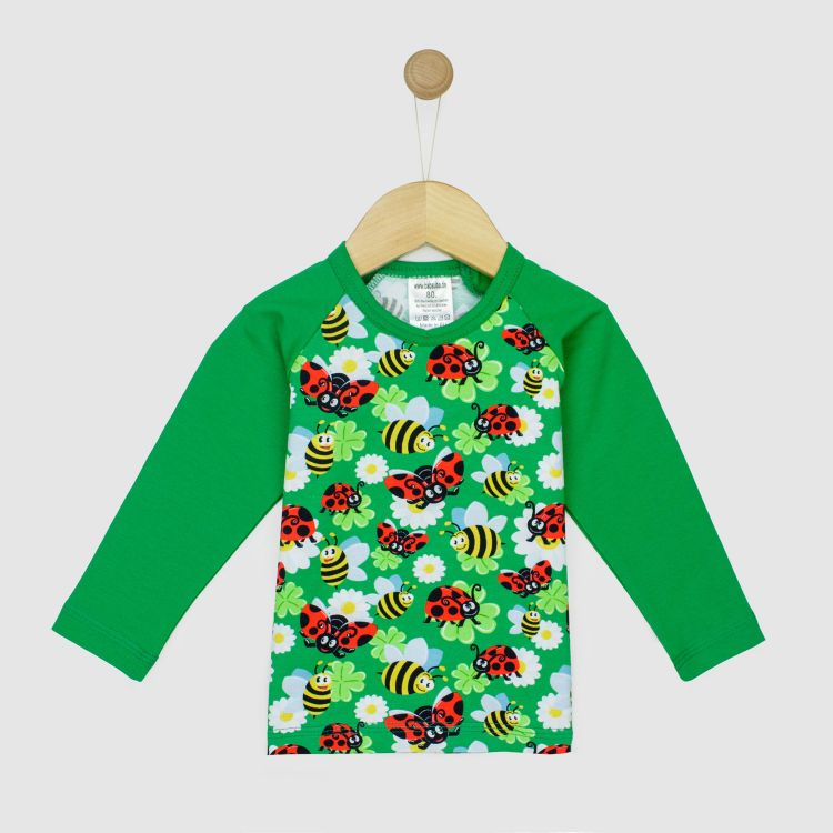 Langarm-Raglanshirt LadybugsAndBees