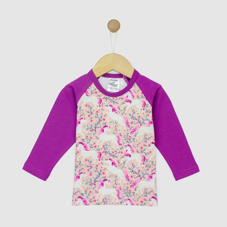 Kids-Langarm-Raglanshirt - FlowerUnicorns