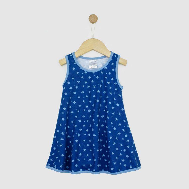 Kids-LittleMissSunshine-Dress - NightSky-Blue