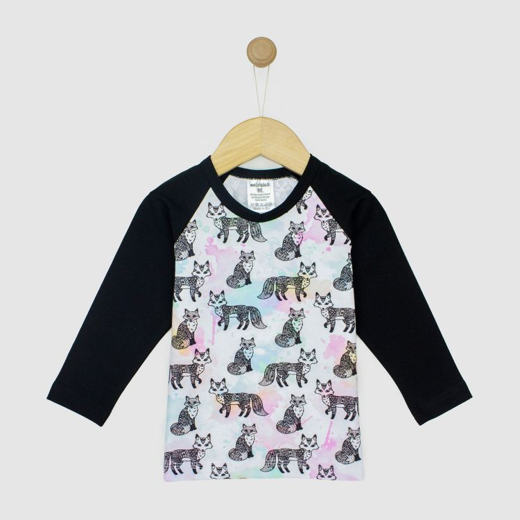 Baby-Langarm-Raglanshirt - ColorfulFoxes