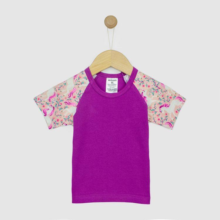 Kids-Kurzarm-Raglanshirt - FlowerUnicorns