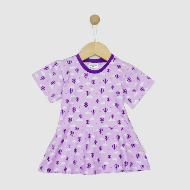 Kurzarm-Volantshirt LovelyBalloons-Lavendel