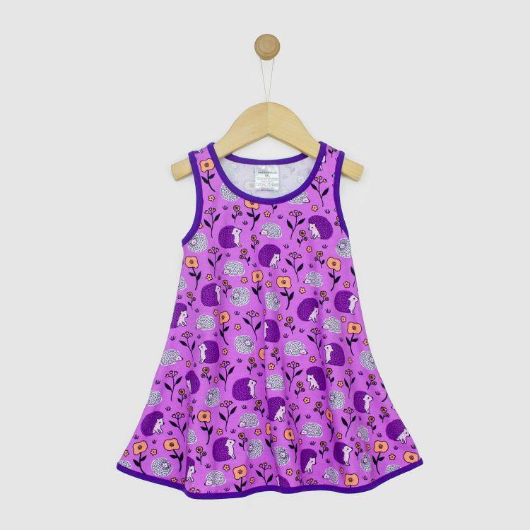 Kids-LittleMissSunshine-Dress - SweetHedgehogs-Purple