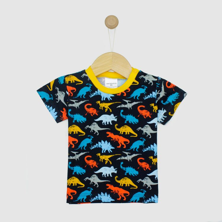 Baby-T-Shirt - WildDinos-Black
