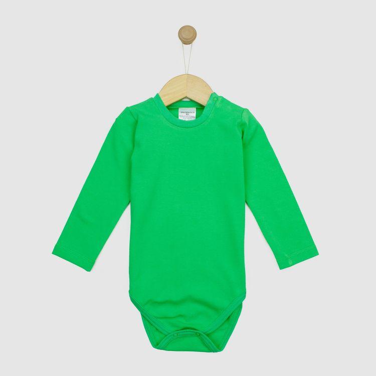 Uni-Langarmbody Grasgrün