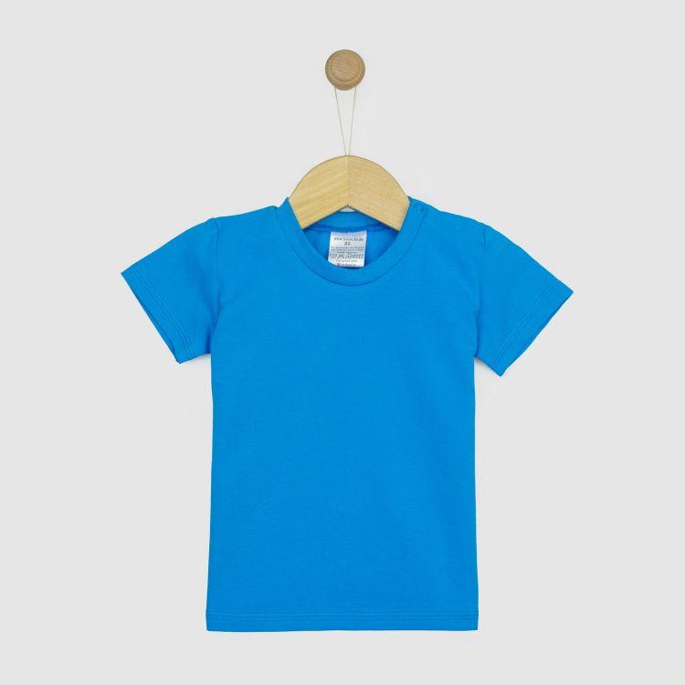 Uni-T-Shirt Türkisblau 62