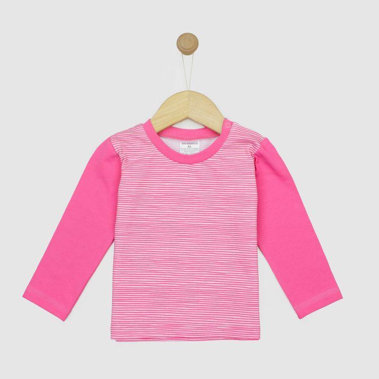 Langarmshirt Stripes-Pink