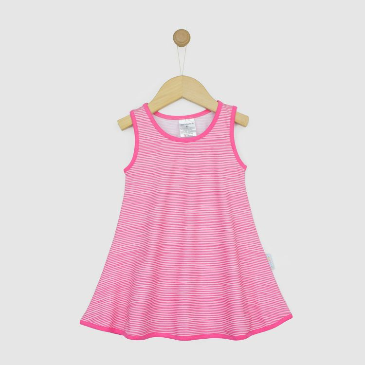LittleMissSunshine-Dress Stripes-Pink