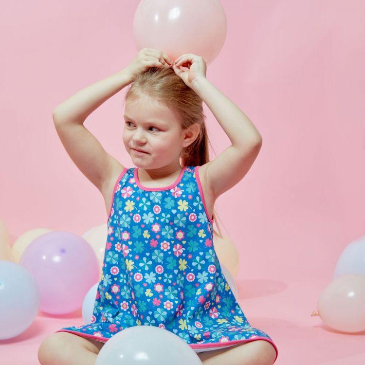 LittleMissSunshine-Dress ColorfulCloverLeaves