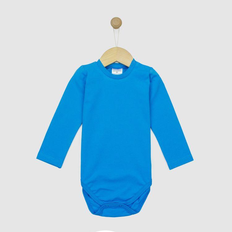 Uni-Langarmbody Türkisblau