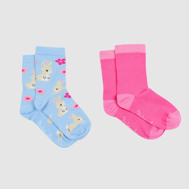 Baby-2er Set SockiSocks - Rosa/HoppingBunnies